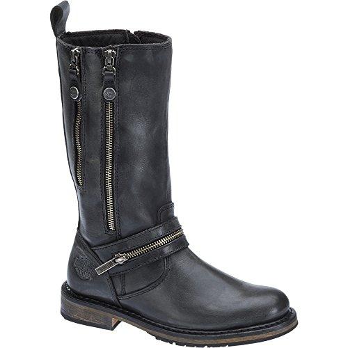 Harley-Davidson Womens Sackett Leather Long Boots Black