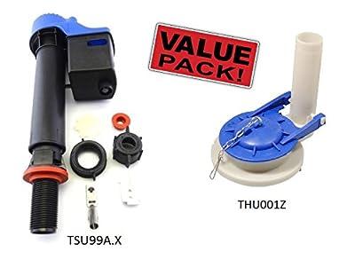TOTO COMBO KIT: (1) TOTO TSU99A.X Universal Fill Valve + (1)THU001Z Power Gravity Flush Valve with Flapper for Carolina Supreme Toilet