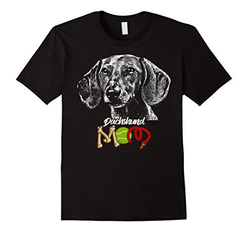 One Dachshund (Mens Cute Dachshund Mom T-Shirt XL Black)