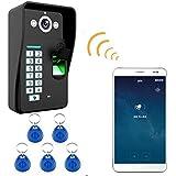 Landing HD 720P Wireless WiFi RFID Password Fingerprint Video Door Phone Doorbell Intercom System Night Vision Waterproof Access Control System