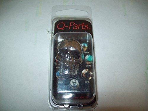 - Q-Parts Custom Guitar Knob - JUMBO SKULL II ON CHROME, KCJSII-0410