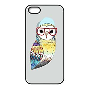 Custom Personalized Hipster Owl Back Cover Case TPU for iphone 5,5S