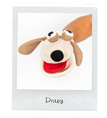Organic Cotton Finger Puppet - Cuddoll Dog Hand Puppets |100% Hand Knitted Organic Cotton | Puppet Sets | Without Any Harmful and Detachable Parts | Made in Turkey by Moms with Love