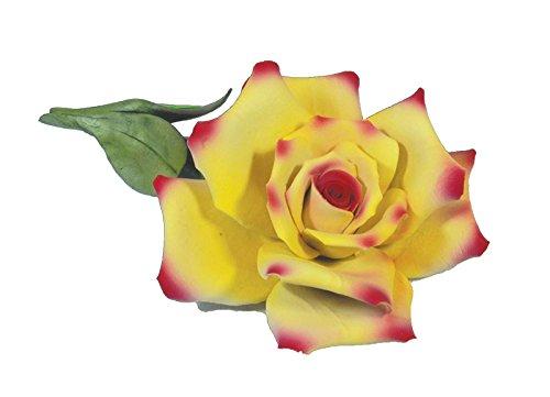 Capodimonte Yellow & Pink Rose