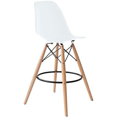 Counter Height Eames : 2xhome - Set of Two (2) - White - 28