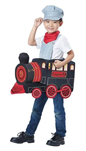 Garbage Man Halloween Costume Toddler (California Costumes All Aboard! Costume, Multi, Toddler)