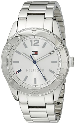 Tommy Hilfiger Womens 1781267 Casual Sport Analog Display Quartz Silver Watch