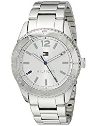 Tommy Hilfiger Women's 1781267 Casual Sport Analog Display Quartz Silver Watch