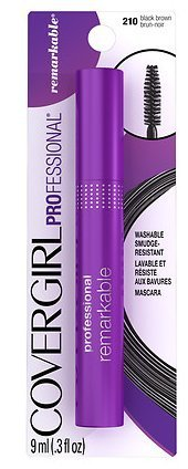 COVERGIRL Professional Remarkable Washable Mascara, Black Brown [210] 0.30 oz ( Pack of 2) ()