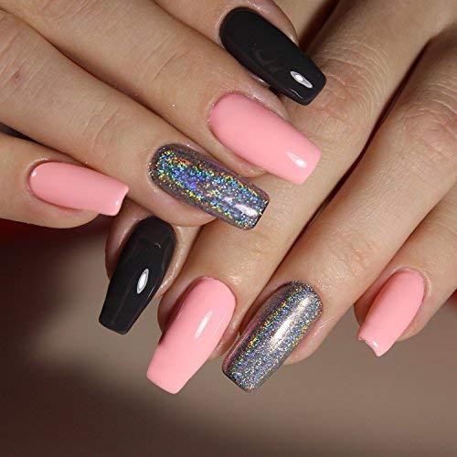 LEEQ 500 Piezas de uñas postizas de acrílico en Forma de tocador de Bailarina largas, 10 tamaños y Color Natural: Amazon.es: Hogar