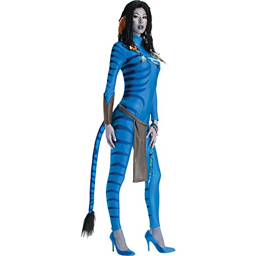[Secret Wishes Avatar Neytiri Costume, Blue, Medium (6/10)] (Alien Costume Woman)