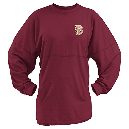 Three Square by Royce Apparel NCAA Florida State Seminoles Junior's Coastal Sweeper Jersey, Garnet, X-Large