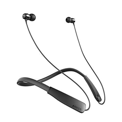 Anker SoundBuds Lite Bluetooth Headphones, Wireless Lightweight Neckband Headset, IPX5 Water Resistant Sport Earbuds with CVC 6.0 Noise Cancelling and Built-in Mic (Black)