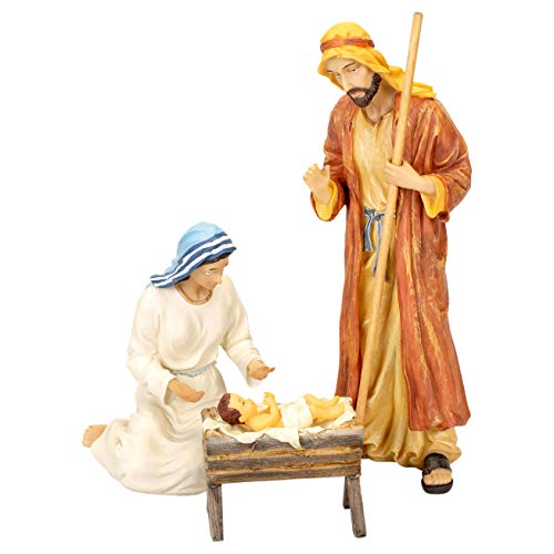 Holy Family 3 Piece Set 10 inch Resin Stone Christmas Nativity Figurines