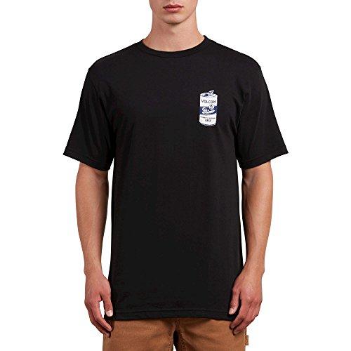 (Volcom Men's Primo Chug Short Sleeve Graphic Tee, Black, S)