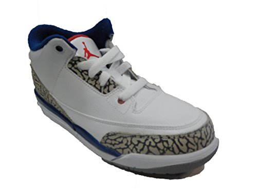 Nike Air Jordan 3 Toddler True Blue 832033-106 White/Cement Grey-True Blue (8c) (Nike Air Jordan 8c)