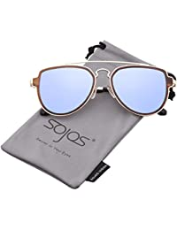 Fashion Polarized Aviator Sunglasses for Men Women Mirrored Lens SJ1051