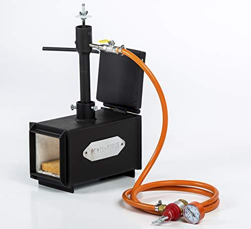 Forja de gas propano, fabricación de cuchillos, Herrero, horno, quemador | DFPROF1+1D | Gas Propane Forge: Amazon.es: Industria, empresas y ciencia