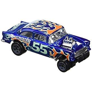Hot Wheels 2017 HW Flames '55 Chevy Bel Air Gasser 109/365, Blue