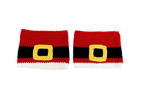 Design Engineering Women's Santa Belt Boot Cuffs - Mr. Mrs. Claus Boot Toppers -