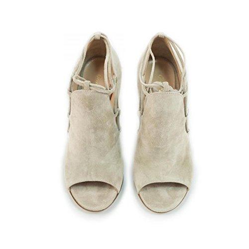 Gianvito Rossi Zapatos de vestir de ante para mujer Beige blanco perla (ral 1013) No
