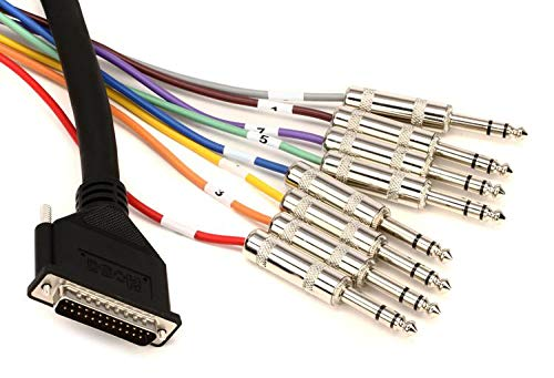 Hosa DTP802 Snake Cable DB25 To 8 x TRS 6.6Ft DB25 to TRS Snake