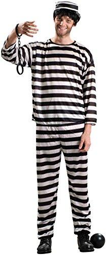 (Forum Novelties Men's Prisoner Costume, Black/White,)