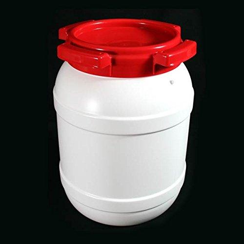 6 Litre 7006 Plastic Waterproof Airtight Watertight Storage Keg Drum Barrel – UN Approved Open Top Wide Mouth Jar – Food…