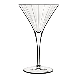 Luigi Bormioli Bach Martini Glass - Set of 4 6 Dimensions: 4.50 diam. x 7.25H in. Glass construction Dishwasher safe
