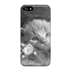PREMIUM Durable Tpu Para Fashion de gato gris iphone 5/5S–Funda protectora