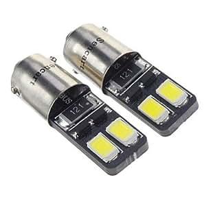 BA9S 1.5W 27LM 6000K 4x5730SMD refrescan la lámpara LED de luz blanca para coche (12V, 2 pcs)