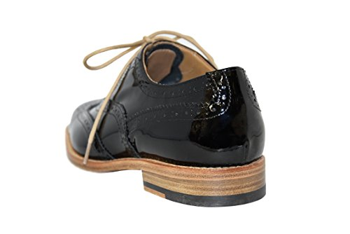Courtley & Sons 28.24.22fr, Damen Brogue / Oxford Schwarz