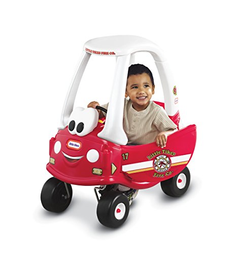 Little Tikes Fire and Rescue Cozy Coupe Ride-On (Ride Truck Rescue Fire On)