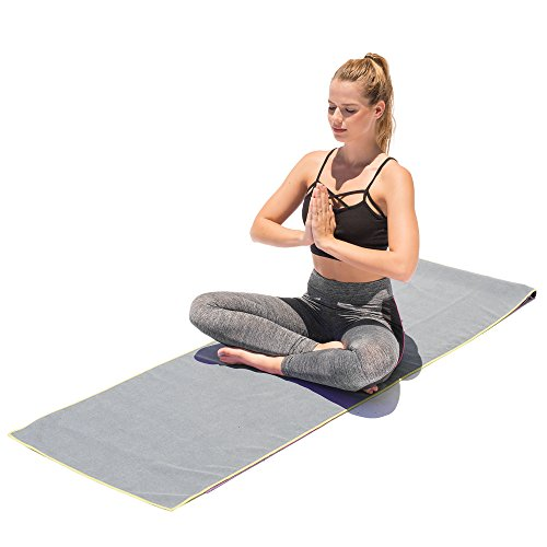 Microfiber Yoga Towel 24 in. X 72 in. by AAA Elite Yoga. Slip Resistant Safety Towel, for Bikram,syber monday Ashtanga Hot Yoga Etc. Eco Friendly, Machine Wash. Bonus eBook