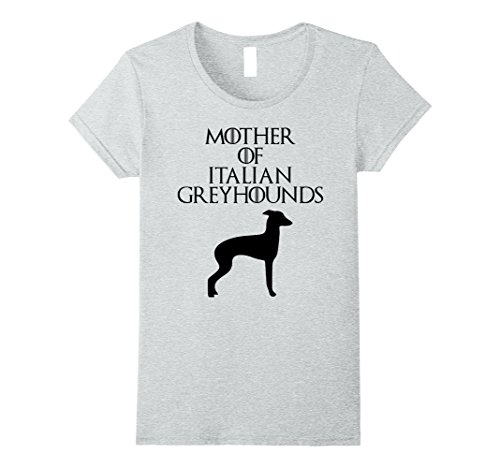 Womens Mother of Italian Greyhounds   Mom T-Shirt & Gift E010670 Small Heather Grey