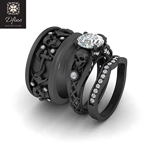 amazoncom diamond gothic skull anchor nautical wedding