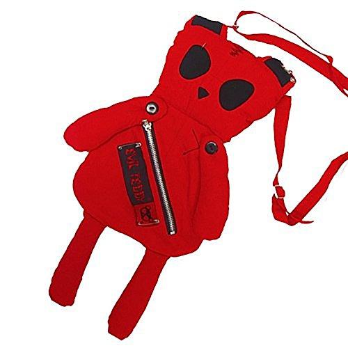 Evil Teddy Schultertasche KILLER BAG red
