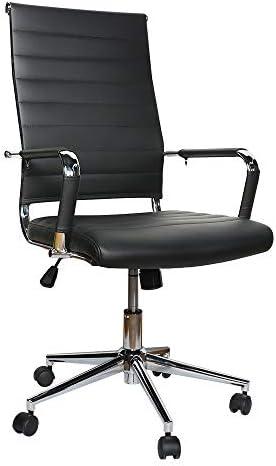 eclife Ergonomic Office Desk Chair Adjustable RibbConference Chair High-Back 360 Swivel W/Armrest