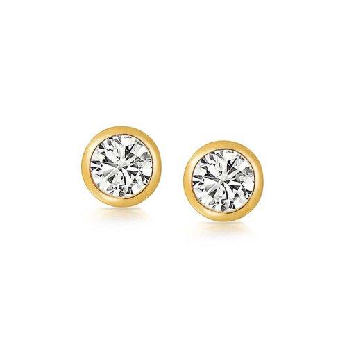 Bling Jewelry Boucles d'oreille ronds pour homme en plaque or