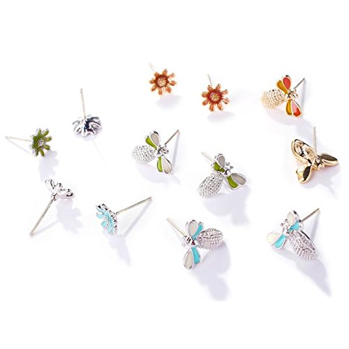 Love Fresh Flowers - usongs Luxury Love s925 silver needle hypoallergenic drip cute little bee earrings women girls small fresh flower-shaped earrings