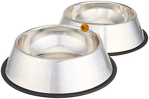 Sage Square Stainless Steel Dog Bowl  Medium, Set of 2