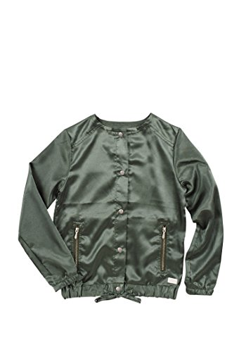 7 For All Mankind Girl's Snap Front Zipper Pockets Ruched Bottom Fashion Jacket Agave Green Small (Ruched Pocket Jacket)