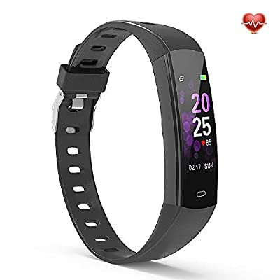 YoYoFit Activity Tracker, Egg Color Display Wristband Fitness Tracker Watch with Heart Rate Calories and Step Counter, Smart Pedometer Watch for Women Men …