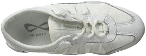 Nfinity Adult Evolution Cheer Shoes, White, 8.5 by Nfinity (Image #9)