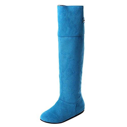 COOLCEPT Botas Hasta la Rodilla para Mujer Blue