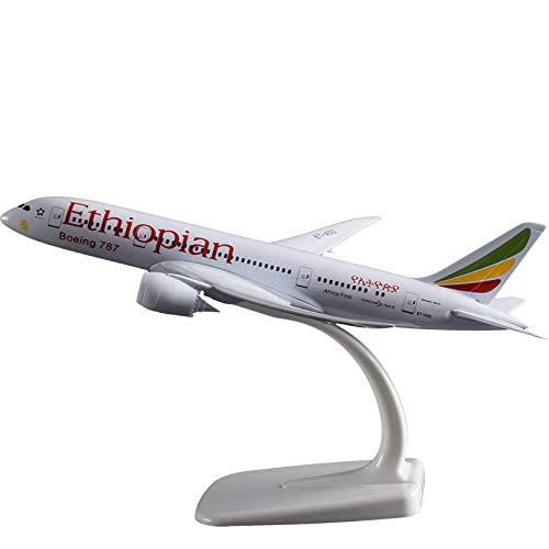 Ethiopian Airlines - Marrsto 20Cm Boeing 787 Ethiopia Airlines Airplane Model Metal Alloy Ethiopian B787 Aviation Model Office Decoration Birthday Gift Toy