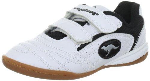 KangaROOS 10704 - Zapatillas de deporte infantiles Blanco (Weiß (wht/blk/silver 59))