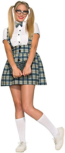 Forum Novelties Women's 50's Nerd Girl Costume, Multi, -