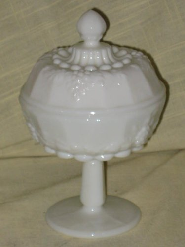 Paneled Grape Milk Glass - Vintage Westmoreland Milk Glass