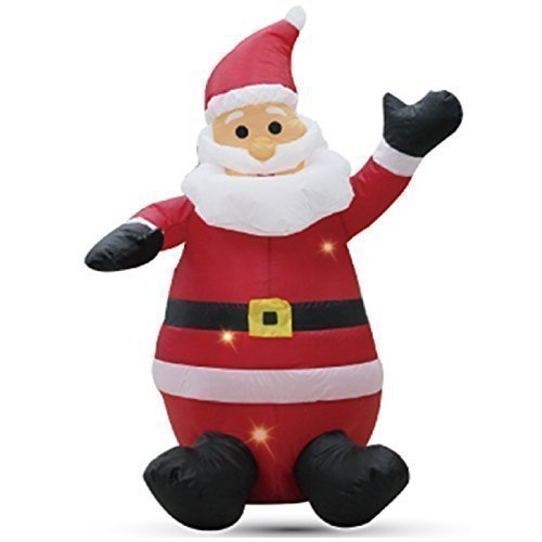 1.2m Sitting Santa Claus Self Inflating Inflatable Electric Blow Up Giant Large Outdoor Garden Christmas Xmas Figure Statue by Inflatable Water Toys